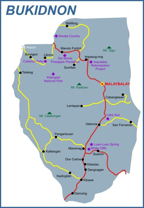 bukidnon map