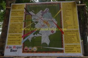 Malaybalay City Street Map for Kaamulan Festival