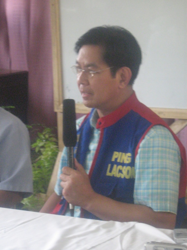 Senator Ping Lacson in Bukidnon photo by BukidnonOnline.com