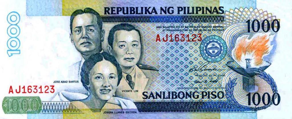Philippine peso one thousand peso bill