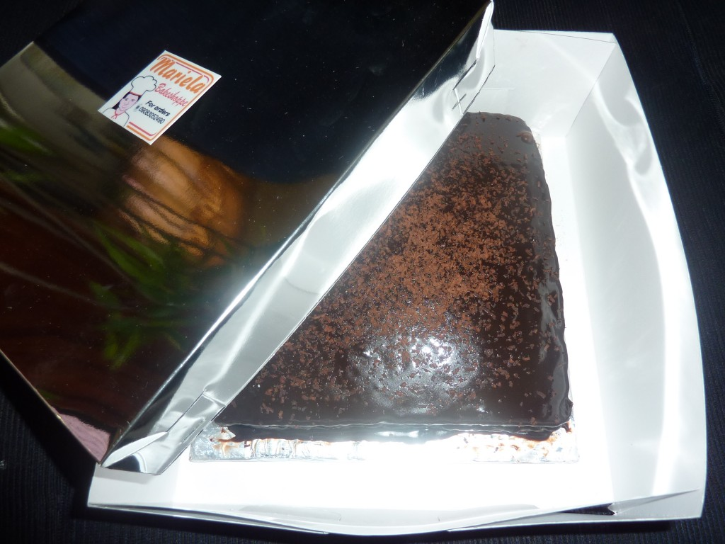 chocolate cake in mariela's bakeshop valencia city