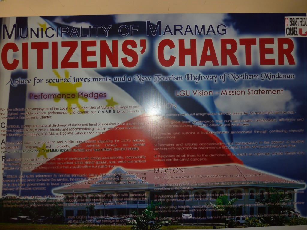 maramag bukidnon citizens' charter