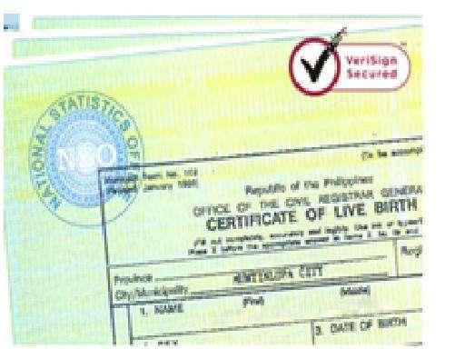 nso birth certificate
