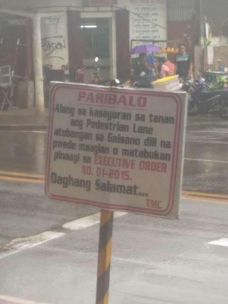 pedestrian lane gaisano malaybalay