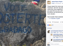 duterte vandalize mt. capistrano malaybalay