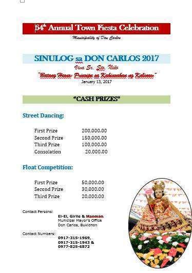 don carlos bukidnon sinulog 2017