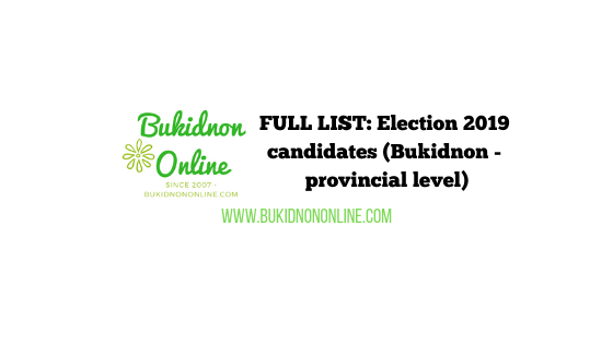 bukidnon election 2019 candidates