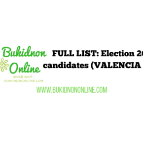 List of election 2019 candidates: VALENCIA CITY
