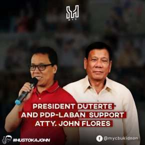 PDP LABAN FINALLY SPEAKS UP: President Duterte officially supports Atty. John Flores