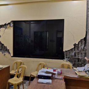 Barangay hall in Maramag damaged following 5.9 earthquake