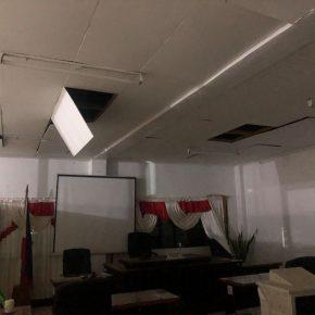 Kadingilan SB Hall shows signs of damage, cracks