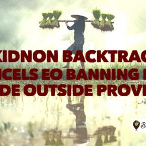 BREAKING: Zubiri backtracks, cancels EO banning rice trade outside Bukidnon