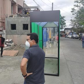 Flores installs disinfection booths to help fight spread of COVID-19