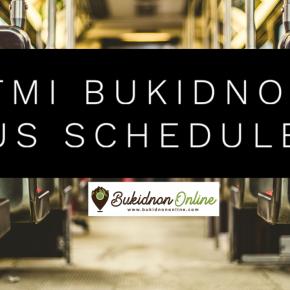 SCHEDULE and bus spacing: Rural Transit Bukidnon