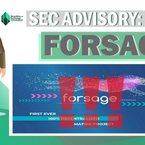 Securities and Exchange Commission warns public against FORSAGE