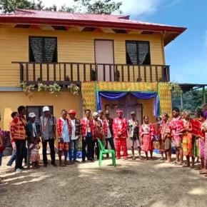 Matigsalug - Manobo IPs receive new tribal hall in Kitaotao