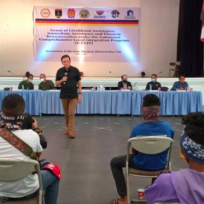 Thirty eight ex-rebels receive livelihood assistance via Bukidnon E-CLIP