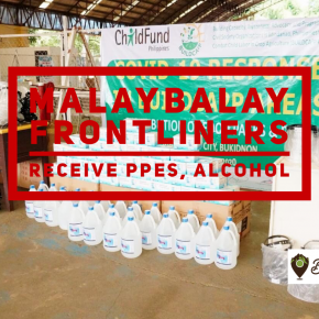 Malaybalay frontliners receive PPEs, alcohol