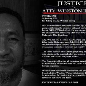 Slain Bukidnon lawyer Winston Intong part of Duterte's drug watch list - PNP