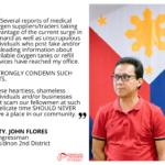 Bukidnon congressman warns erring medical oxygen traders, scammers